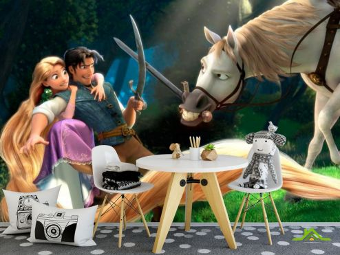 Рапунцель Фотообои Драка с конем
