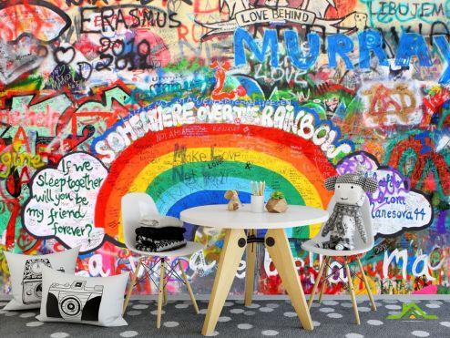 для подростка Фотообои Граффити на стене