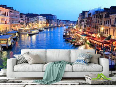 обои Венеция Фотообои Кафе у воды, Венеция