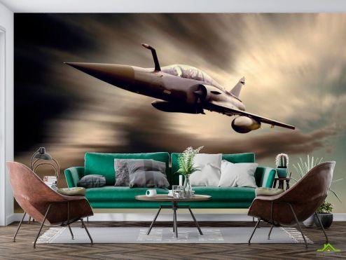 Самолеты Фотообои Истребитель в небе