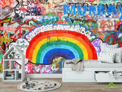 обои в детскую Фотообои Граффити на стене