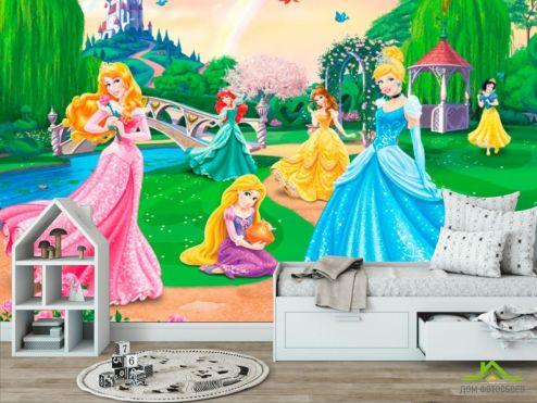 обои в детскую Фотообои Три принцессы