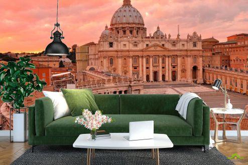 Фотошпалери, колір: «червоний» Ватикан