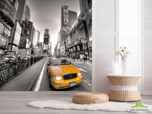 Современный город Фотообои Такси большого города