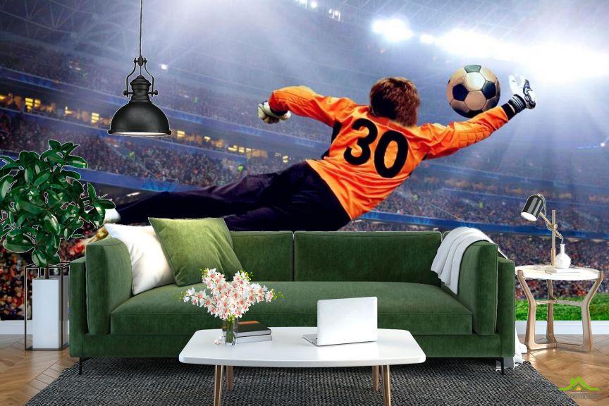 Фотообои Вратарь ловит мяч