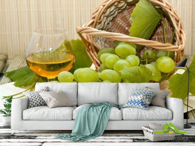 Фотообои зеленый виноград