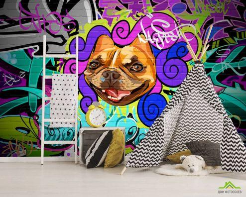 для подростка Фотообои Яркое граффитти