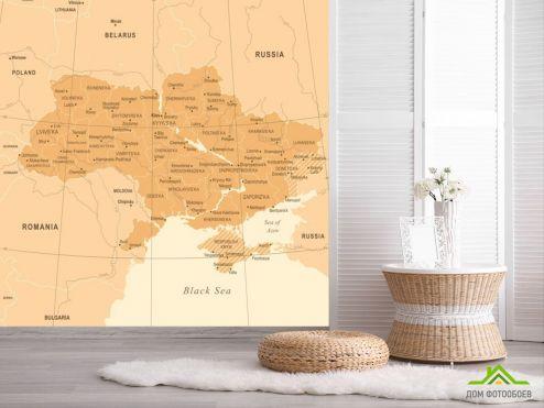 обои Карта Фотообои Политическая карта Украины
