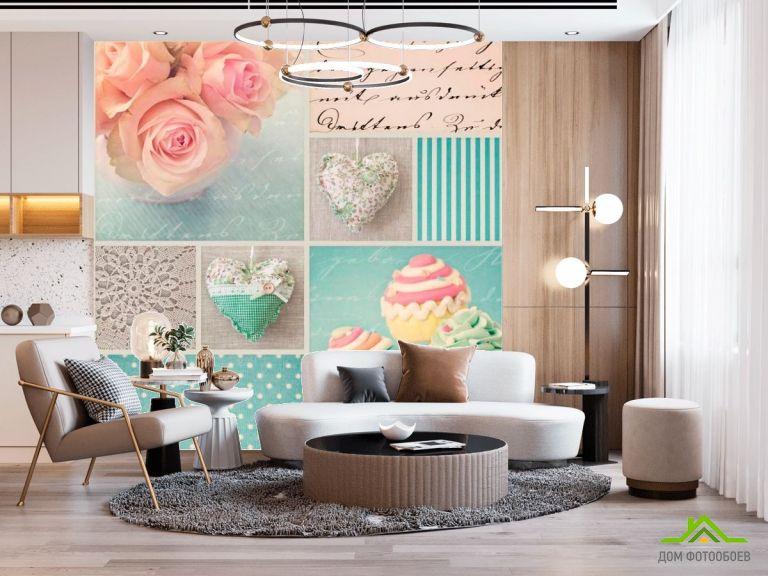 Фотообои Конфеты, розы