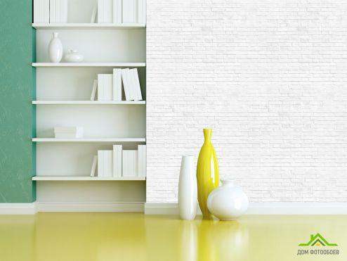 обои Кирпичная стена Фотообои Белая кирпичная стена