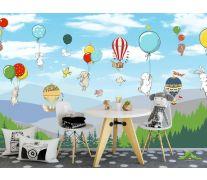 Фотообои Звери на воздушных шариках
