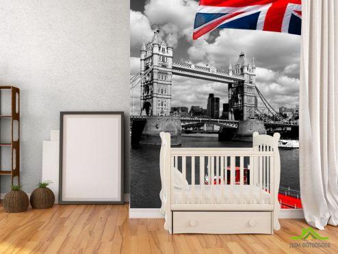 обои Город Фотообои Лондон, флаг
