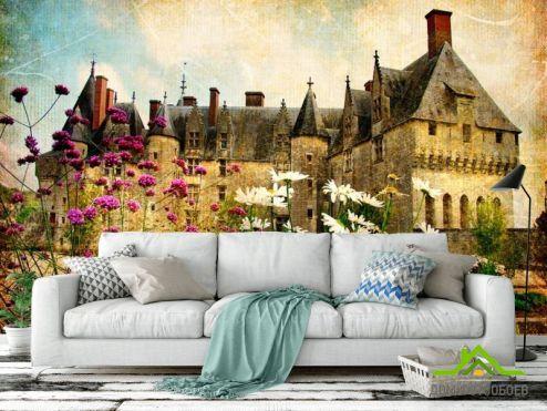 Серые обои Фотообои Замок в глуши
