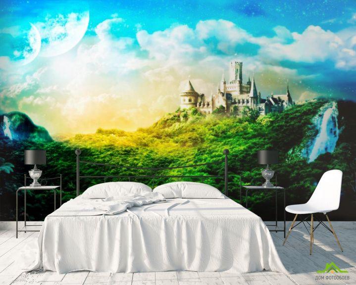 Фотообои Утопающий в зелени замок
