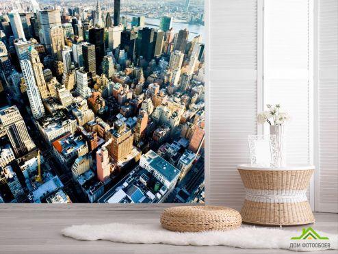 обои Нью Йорк Фотообои Город Нью-Йорк с высоты