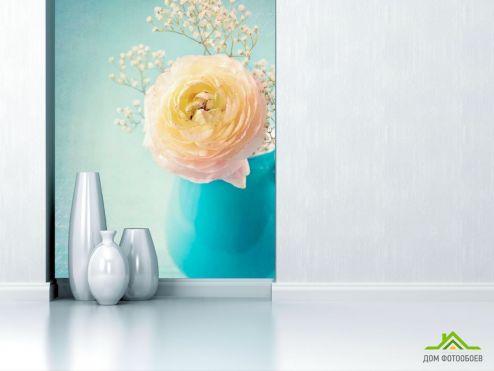 обои Пионы Фотообои Пион белый в вазе
