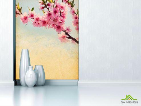 обои Вишня Фотообои Веточка вишневых цветов