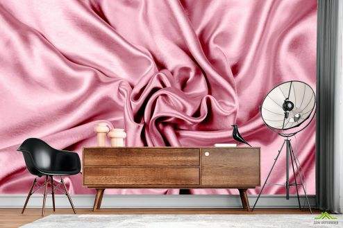 Абстракция Фотообои Розовый абстрактный атлас