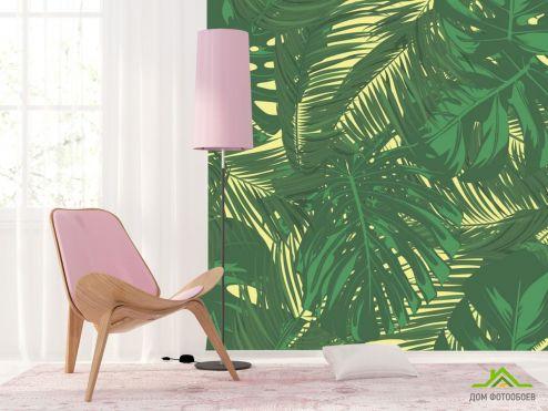 тропические листья Фотообои Векторные листья