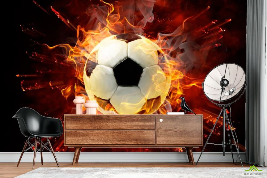 Фотообои Мяч в огне