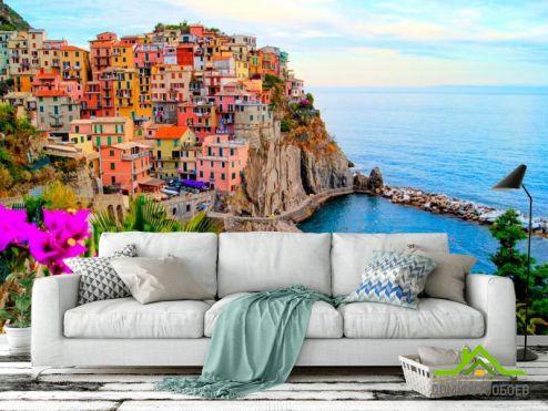 обои Италия Фотообои Чинкве-Терре, Италия