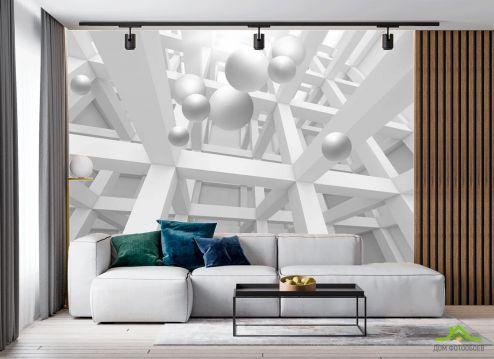 в гостиную Фотообои 3д геометрия