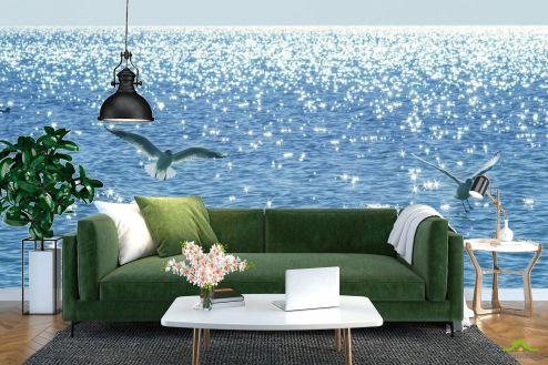 Фотообои Море по выгодной цене Фотообои Чайки над морем