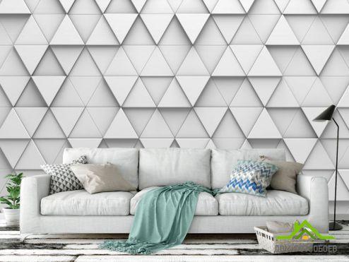 обои Геометрия Фотообои выпуклые треугольники