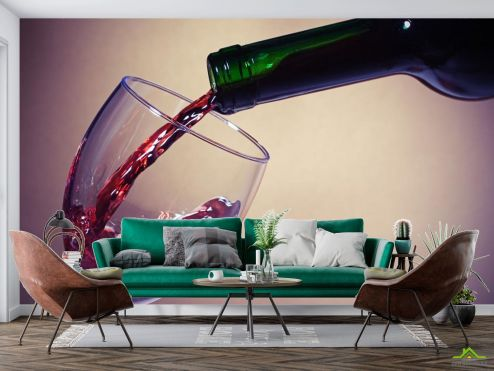 Еда и напитки Фотообои красное вино в бокал