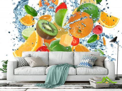 Еда и напитки Фотообои Яркие фрукты