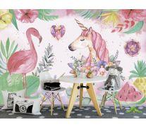 Фотообои Фламинго детские