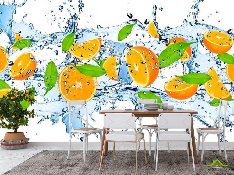 Фотообои в кухню Апельсин