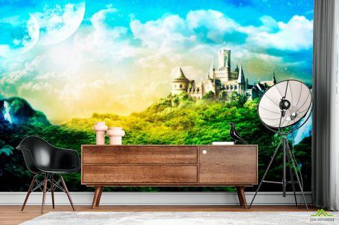 Каталог фотообоев Фотообои Утопающий в зелени замок