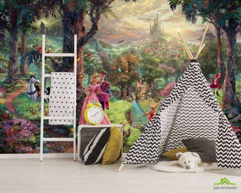 Принцессы Фотообои Волшебный лес