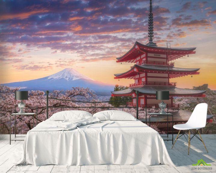 Фотообои горы в Японии