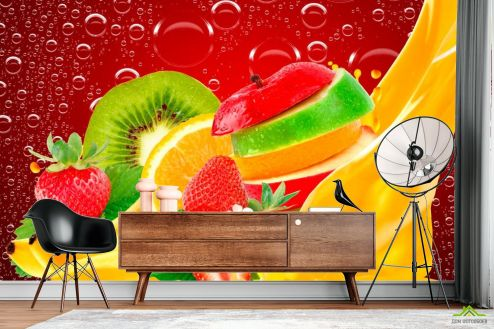 Каталог фотообоев Фотообои Нарезанные фрукты, ягоды