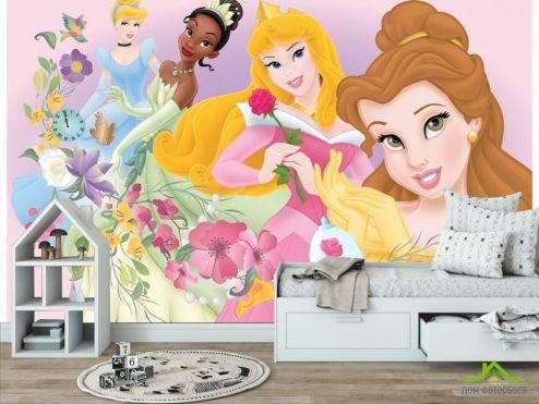 в детскую Фотообои Четыре принцессы