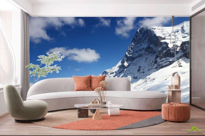 Фотообои у снежной горы