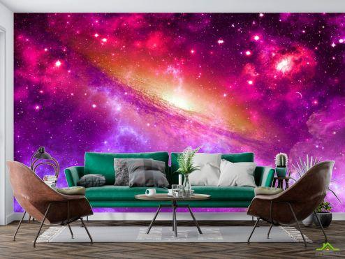 Космос Фотообои Фиолетовое космическое небо