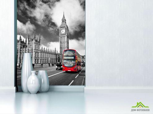 обои Город Фотообои Автобус в лондоне