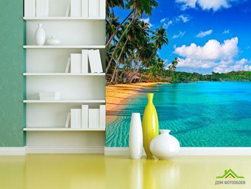 Пляж Фотообои Лазурное побережье