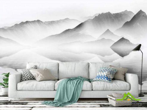 обои по стилю Фотообои Туманные горы