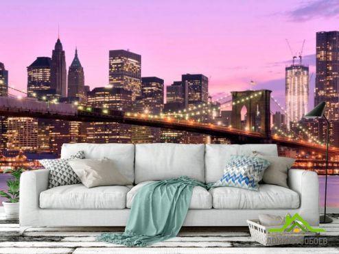 Каталог фотообоев Фотообои Зачарованный  мост Нью-Йорка