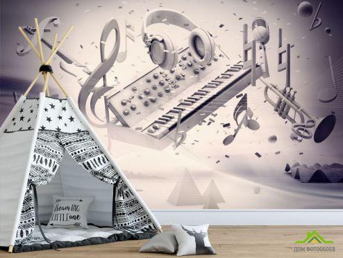 для подростка Фотообои Музыкальный принт