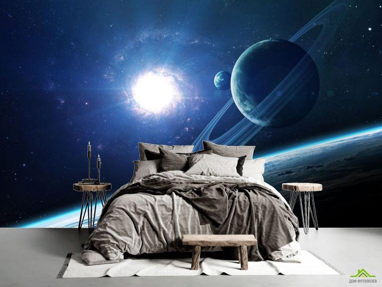 Фотообои планеты и сияние