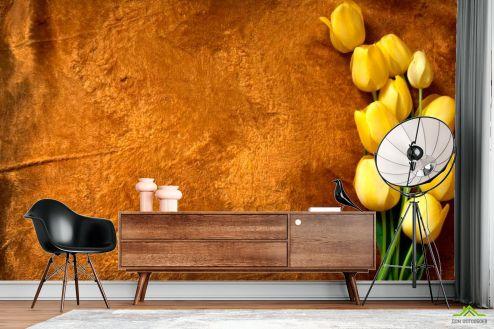 Тюльпаны Фотообои Желтые тюльпаны купить
