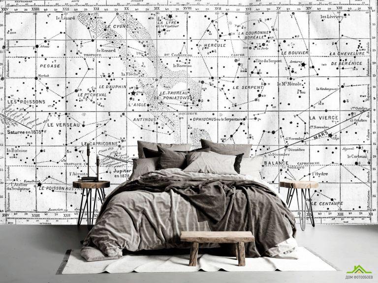 Фотообои Винтажная карта звездного неба