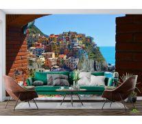 Фотообои разноцветные домики над морем