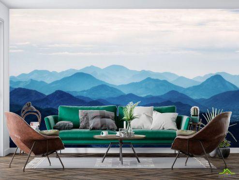 в скандинавском стиле Фотообои синие горы