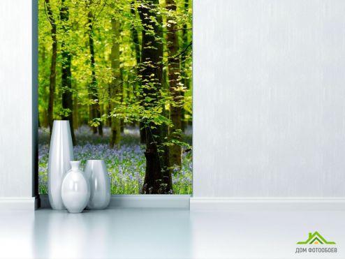 обои Природа Фотообои В лесу, цветы